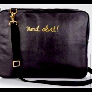 "Rebecca Minkoff Laptop Purse Leather ""NERD ALERT"""
